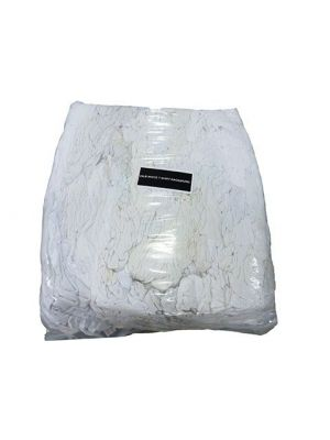 All White T-Shirt Wipers 25lb Bag
